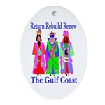 Rebuild The Gulf Coast Oval Ornament