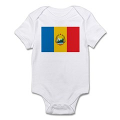 Romania Flag 1965 Infant Bodysuit