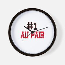 Number 1 AU PAIR Wall Clock