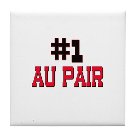 Number 1 AU PAIR Tile Coaster