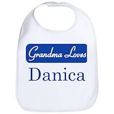 Grandma Loves Danica Bib