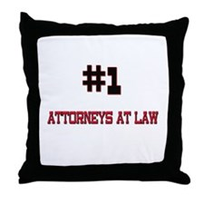 Number 1 ATTORNEYS AT LAW Throw Pillow