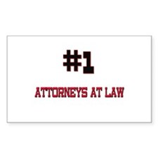 Number 1 ATTORNEYS AT LAW Rectangle Decal