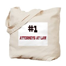 Number 1 ATTORNEYS AT LAW Tote Bag