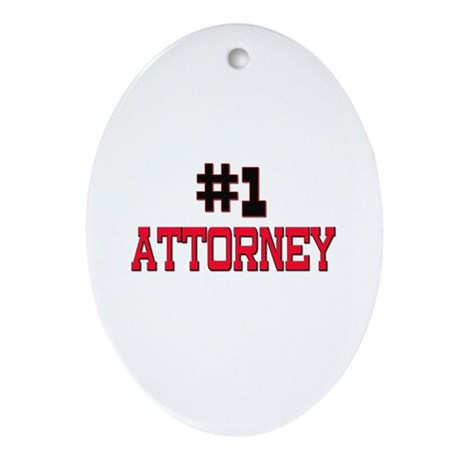Number 1 ATTORNEY Oval Ornament