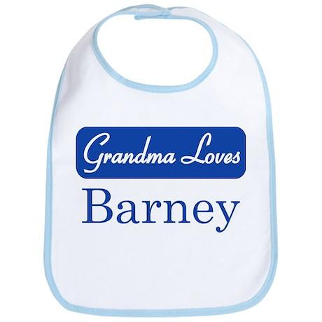 Grandma Loves Barney Bib