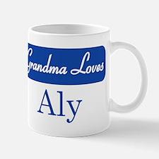 Grandma Loves Aly Mug