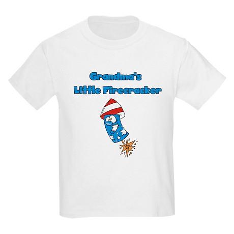 Grandma's Little Firecracker Kids Light T-Shirt
