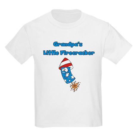 Grandpa's Little Firecracker Kids Light T-Shirt