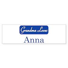 Grandma Loves Anna Bumper Bumper Sticker
