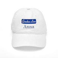Grandma Loves Anna Baseball Cap