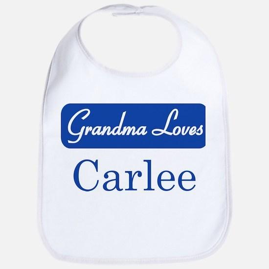 Grandma Loves Carlee Bib