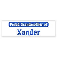 Grandmother of Xander Bumper Bumper Sticker