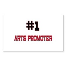 Number 1 ARTS PROMOTER Rectangle Decal