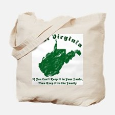 Vintage West Virginia Tote Bag