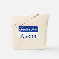 Grandma Loves Alexia Tote Bag
