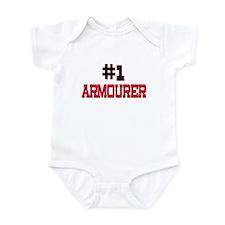 Number 1 ARMOURER Infant Bodysuit