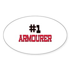 Number 1 ARMOURER Oval Decal