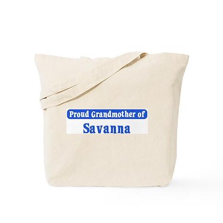 Grandmother of Savanna Tote Bag