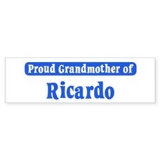 Grandmother of Ricardo Bumper Bumper Bumper Sticker