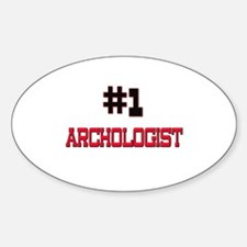 Number 1 ARCHOLOGIST Oval Decal