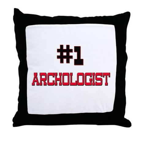 Number 1 ARCHOLOGIST Throw Pillow