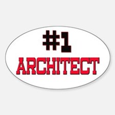Number 1 ARCHITECT Oval Decal