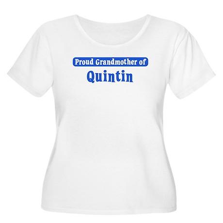 Grandmother of Quintin Women's Plus Size Scoop Nec