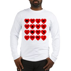 Zoo Hearts Long Sleeve T-Shirt