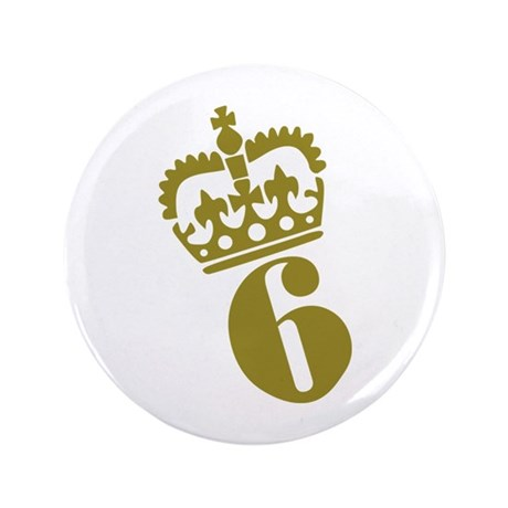 """6th Birthday 3.5"""" Button (100 pack)"""