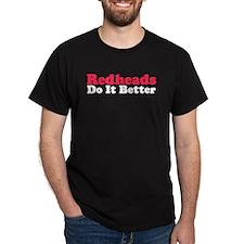 Redheads Do It Better Black T-Shirt