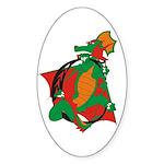 Dragon C Oval Sticker