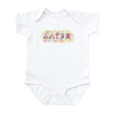 """Faith"" wtih Mice Infant Bodysuit"