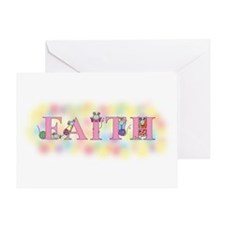 """Faith"" wtih Mice Greeting Card"