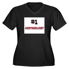 Number 1 ANESTHESIOLOGIST Women's Plus Size V-Neck