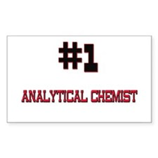 Number 1 ANALYTICAL CHEMIST Rectangle Decal
