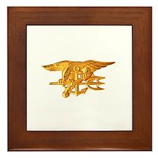 Navy Seals Insignia Framed Tile