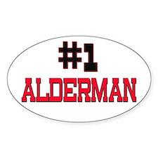 Number 1 ALDERMAN Oval Decal