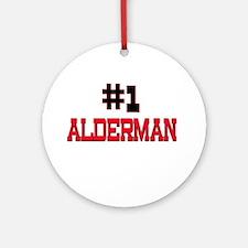 Number 1 ALDERMAN Ornament (Round)
