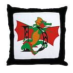 Dragon D Throw Pillow