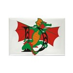 Dragon D Rectangle Magnet