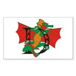 Dragon D Rectangle Sticker