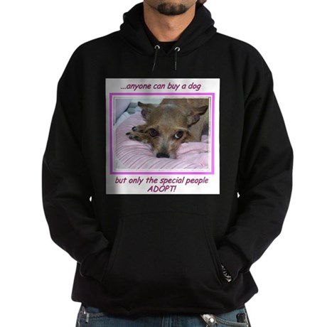 Only SPECIAL people adopt! Hoodie (dark)