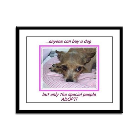 Only SPECIAL people adopt! Framed Panel Print