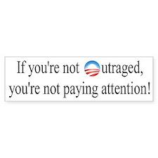Outrage Bumper Bumper Sticker
