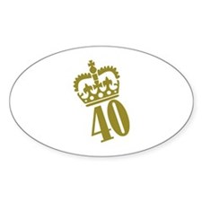 40th Birthday Decal