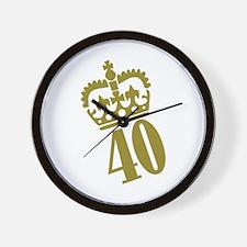 40th Birthday Wall Clock