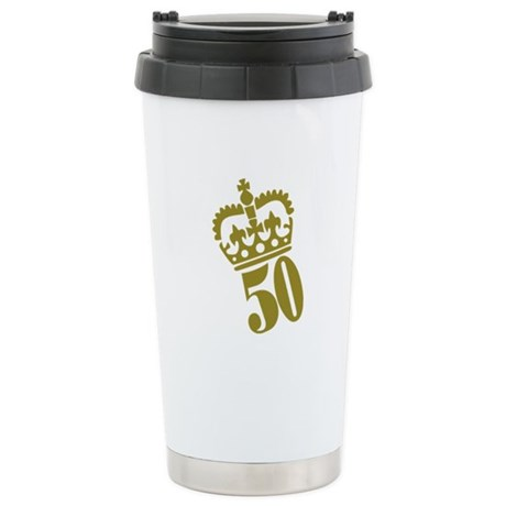 50th Birthday Stainless Steel Travel Mug