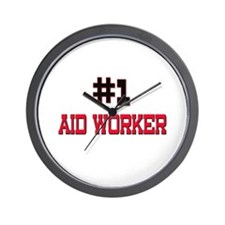 Number 1 AID WORKER Wall Clock