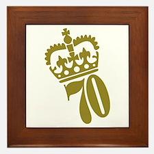 70th Birthday Framed Tile